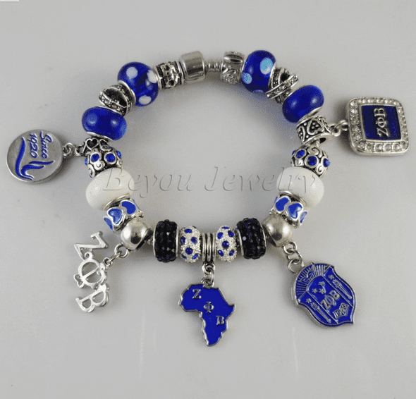 Zeta Phi Beta Charm Bracelet - Unique Greek Store