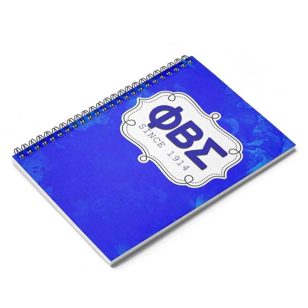 Phi Beta Sigma Spiral Notebook - Ruled Line - Unique Greek Store