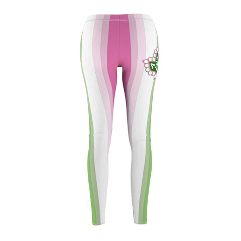 Alpha Kappa Alpha Ivy Leaf Stripe Leggings
