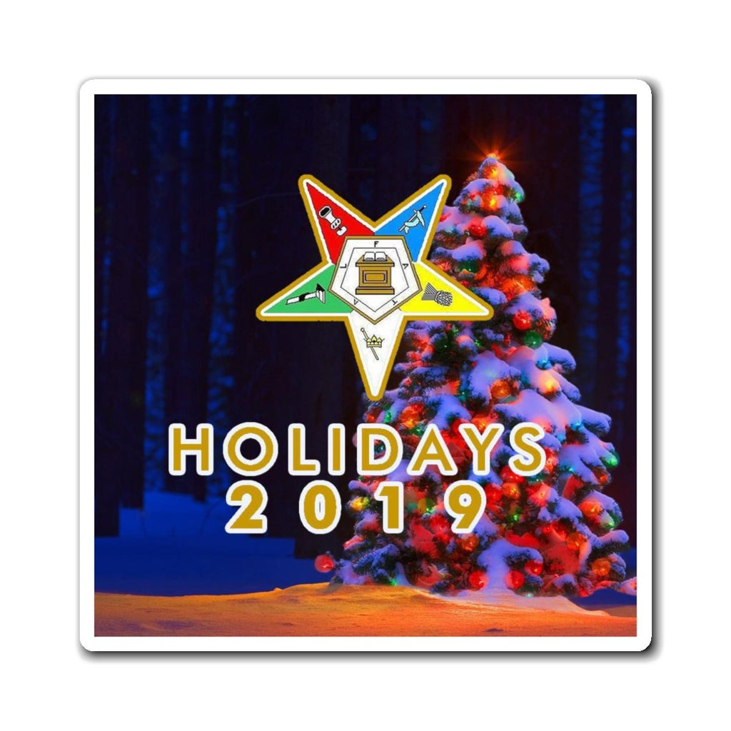 Order of the Eastern Star 2019 Holiday Magnets