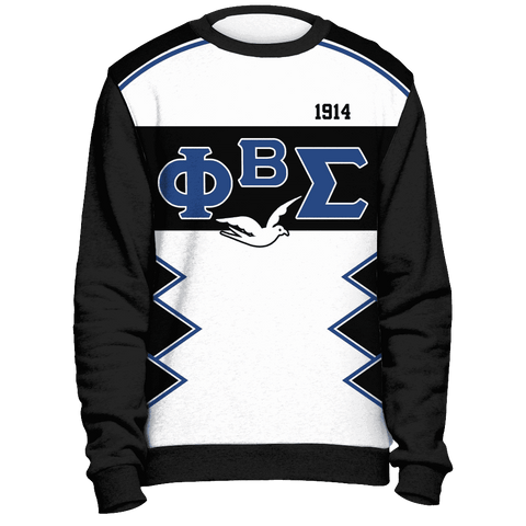 Image of Phi Beta Sigma Initials and Year Black Sweatshirt - Unique Greek Store