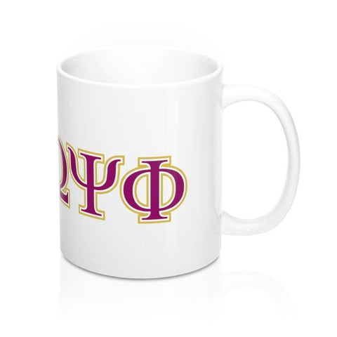 Omega Psi Phi Greek Initials Mug - Unique Greek Store