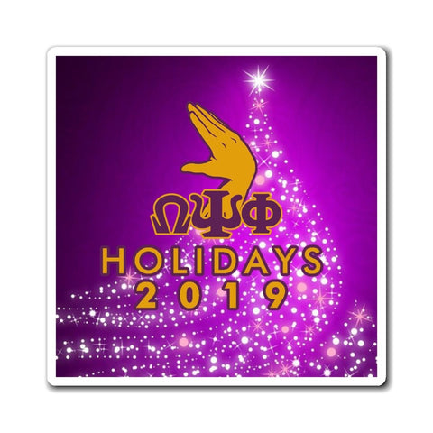 Image of Omega Psi Phi 2019 Holiday Magnets