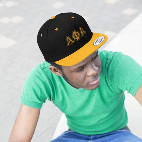 Image of Alpha Phi Alpha Flat Bill Hat