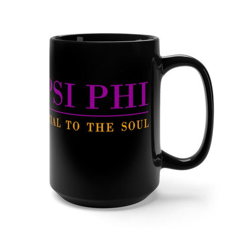 Image of Omega Psi Phi 15oz Black Mug