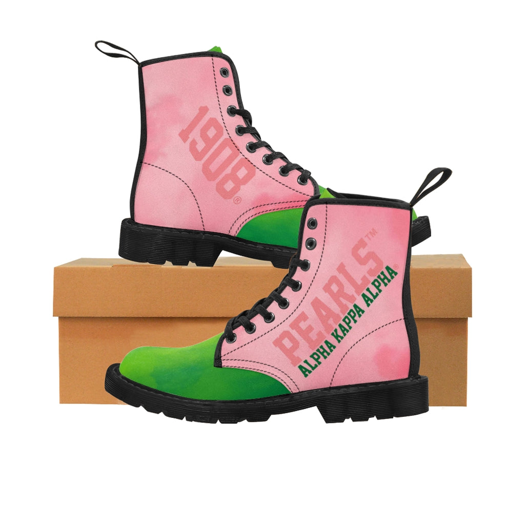 Alpha Kappa Alpha 1908 Canvas Boots