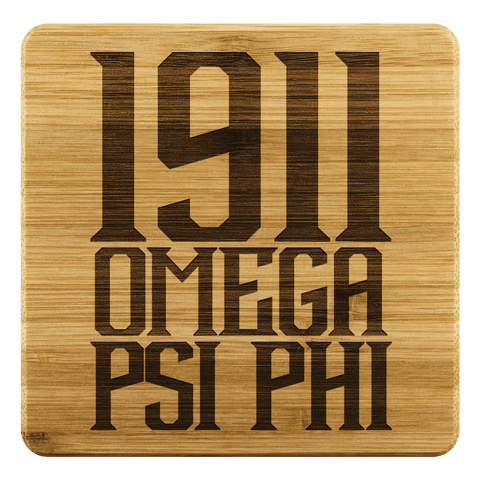 Image of Omega Psi Phi Square Coaster