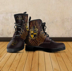 Men's Alpha Phi Alpha Leather Boots - Unique Greek Store