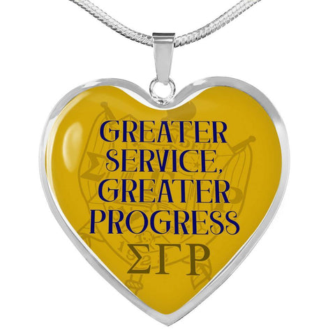 Sigma Gamma Rho Greater Service Necklace