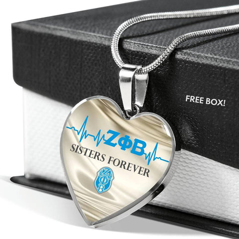 Image of Zeta Phi Beta Sisters Forever Necklace