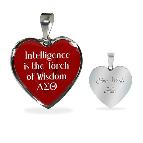 Delta Sigma Theta Torch of Wisdom Necklace