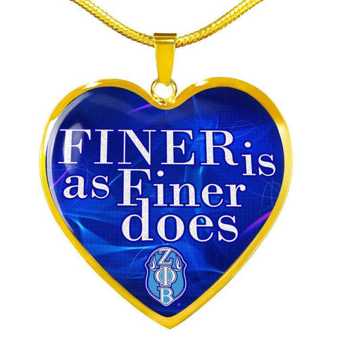 Zeta Phi Beta Heart Necklace