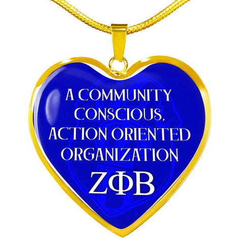 Image of Zeta Phi Beta Greek Letter Necklace