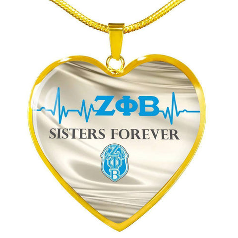 Zeta Phi Beta Sisters Forever Necklace