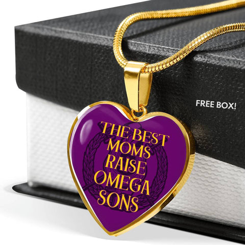Image of Omega Psi Phi Mom Design Necklace