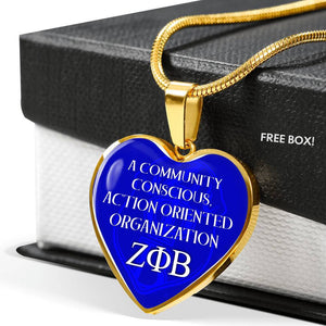 Zeta Phi Beta Greek Letter Necklace