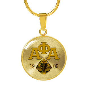 Alpha Phi Alpha Luxury Necklace (Gold) - Unique Greek Store