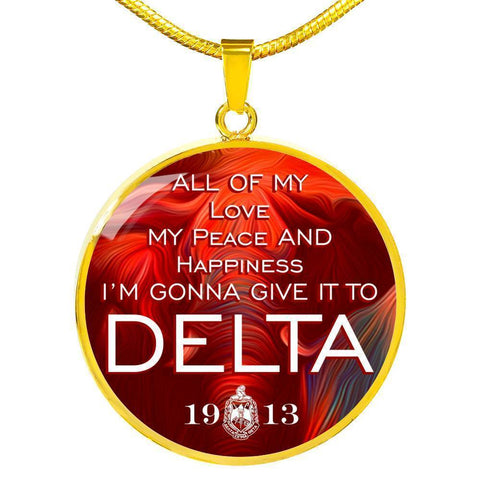 Image of Delta Sigma Theta Circle Necklace