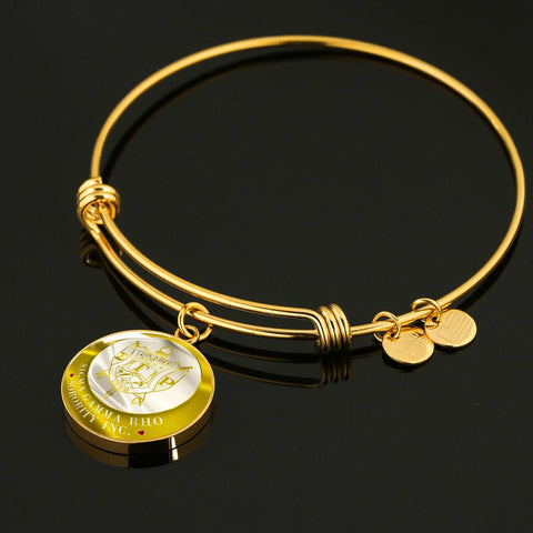 Image of Sigma Gamma Rho Emblem Luxury Bangle
