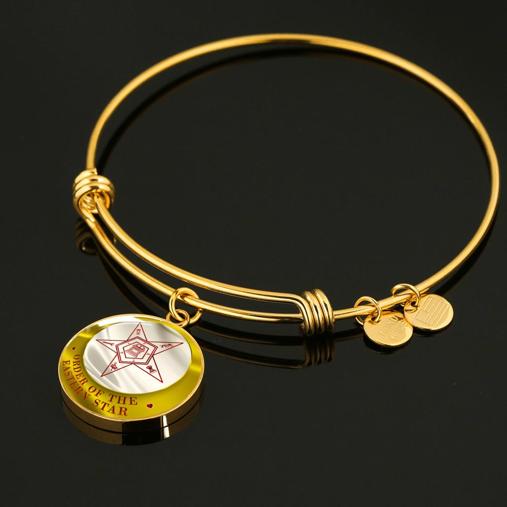 Order of the Eastern Star Emblem Luxury Bangle
