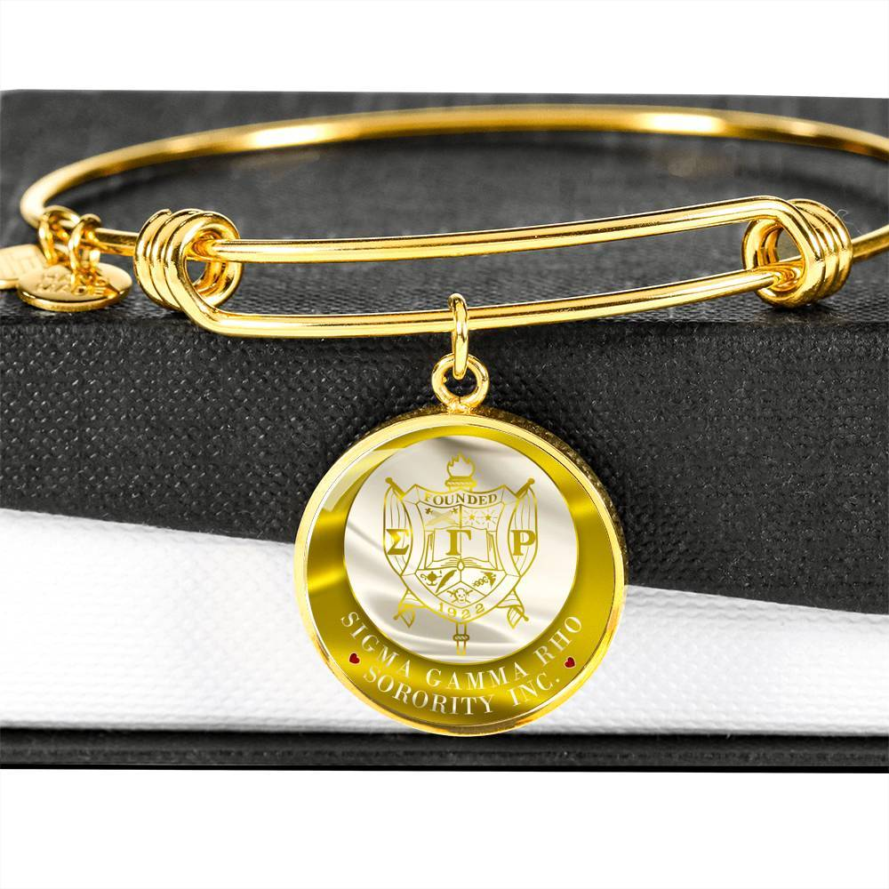 Sigma Gamma Rho Emblem Luxury Bangle