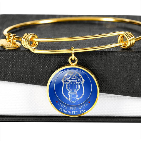 Zeta Phi Beta Emblem Luxury Bangle