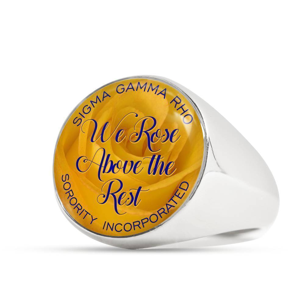 Sigma Gamma Rho Gold or Stainless Steel Ring