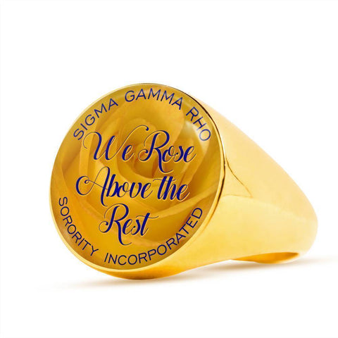 Image of Sigma Gamma Rho Gold or Stainless Steel Ring