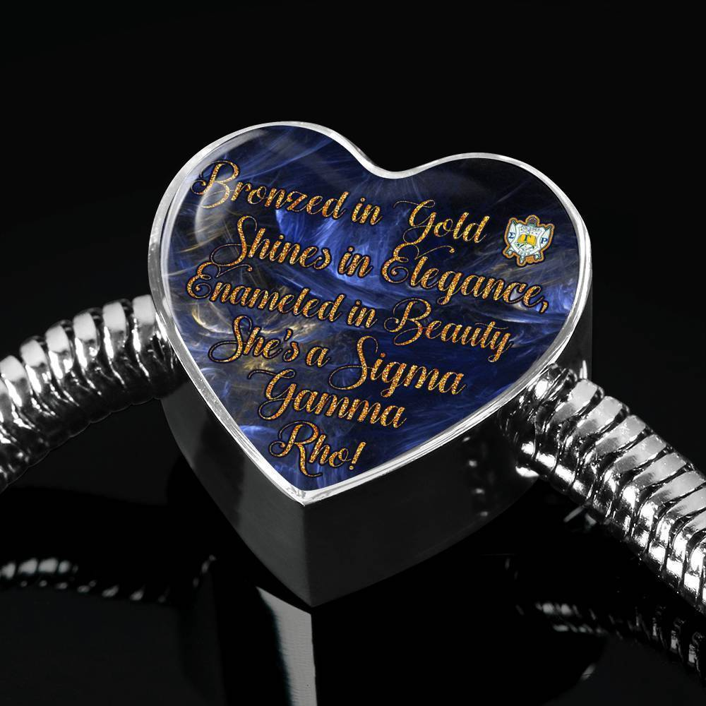 Sigma Gamma Rho Luxury Steel Bracelet