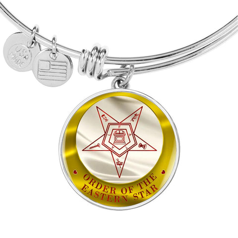 Image of Order of the Eastern Star Emblem Luxury Bangle