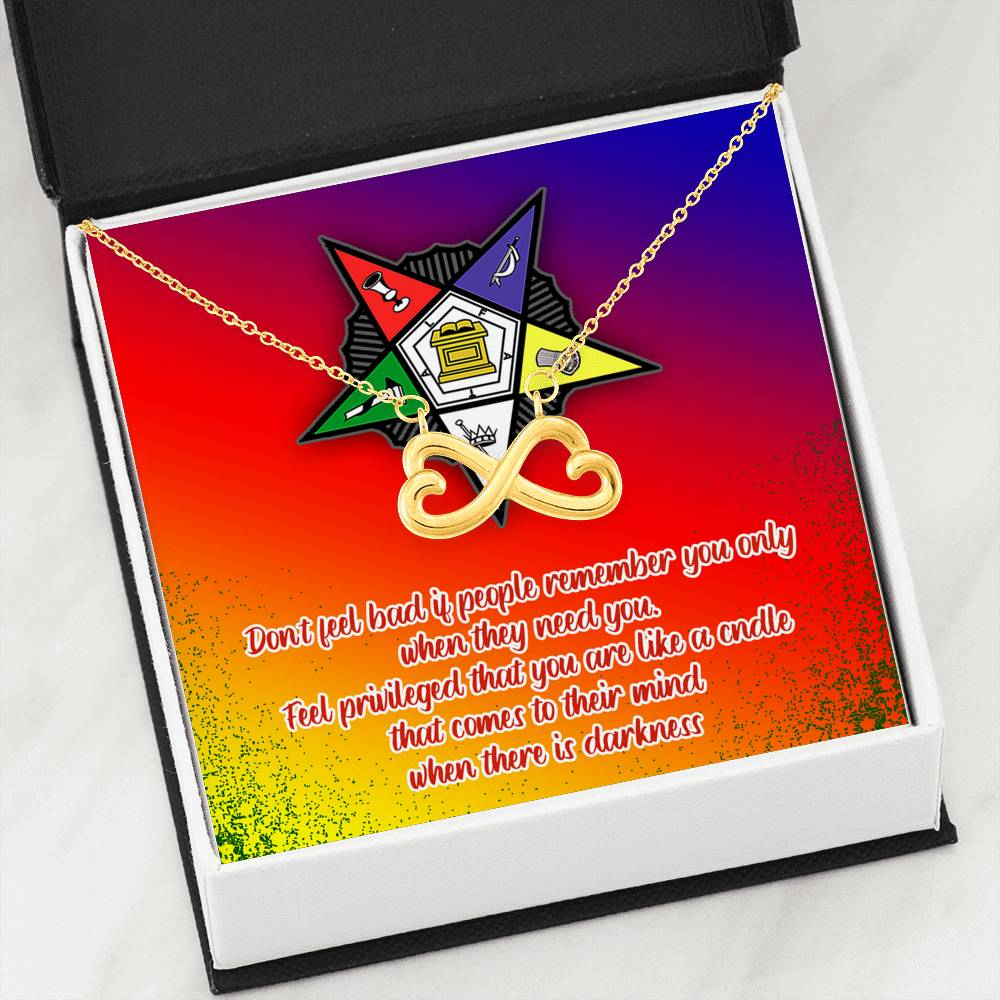 Order of the Eastern Star Infinity Heart Necklace