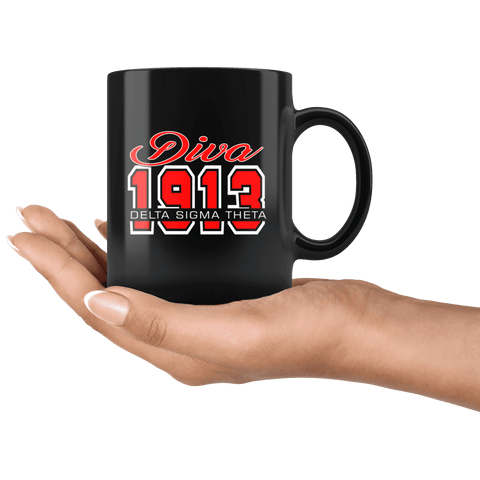 Image of Delta Sigma Theta Black Mug - Unique Greek Store