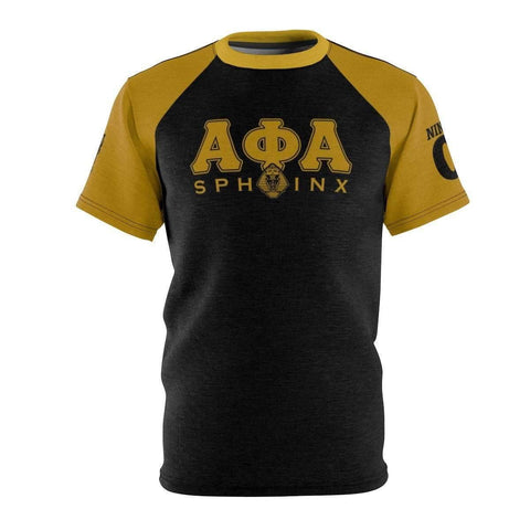 Image of Alpha Phi Alpha Sphinx AOP Tee - Unique Greek Store