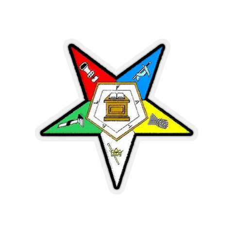 Image of Order of the Eastern Star Emblem Sticker A