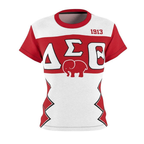 Image of Delta Sigma Theta Initials/Year Women's AOP Cut & Sew Tee - Unique Greek Store