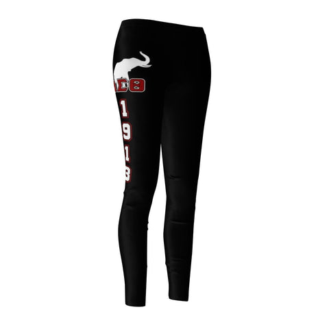 Image of Delta Sigma Theta FOUNDING YEAR Women's Cut & Sew Casual Leggings - Unique Greek Store