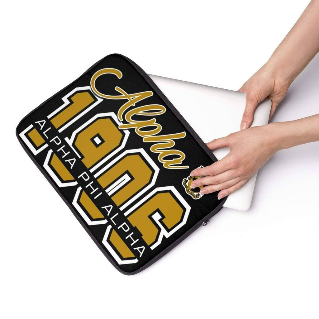 Alpha Phi Alpha Founding Year Laptop Sleeve - Unique Greek Store