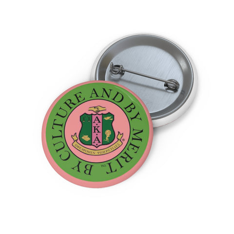 Image of Alpha Kappa Alpha Emblem Pin Buttons