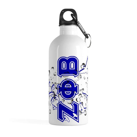 Image of Zeta Phi Beta Stainless Steel Water Bottle - Unique Greek Store