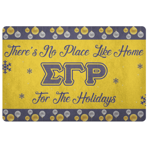 Sigma Gamma Rho Christmas Door Matt
