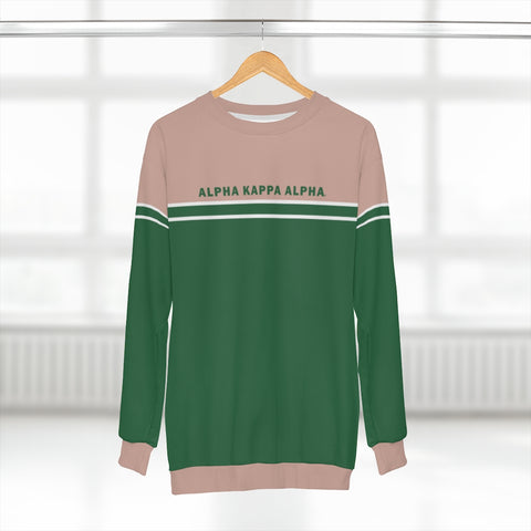 Alpha Kappa Alpha Sorority Stripe Sweater