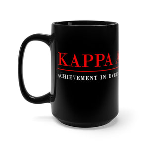 Kappa Alpha Psi 15oz Black Mug