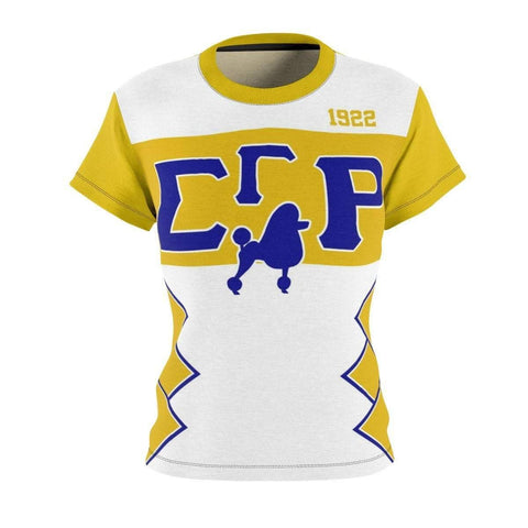 Sigma Gamma Rho Initials/Year Women's AOP Cut & Sew Tee - Unique Greek Store