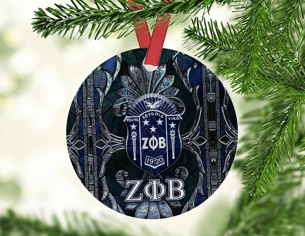 Zeta Phi Beta Circle Ornament - Unique Greek Store