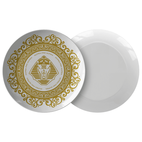 Image of Alpha Phi Alpha Plate - Unique Greek Store