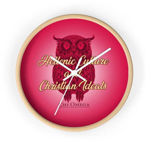 Image of Chi Omega Wall clock - Unique Greek Store