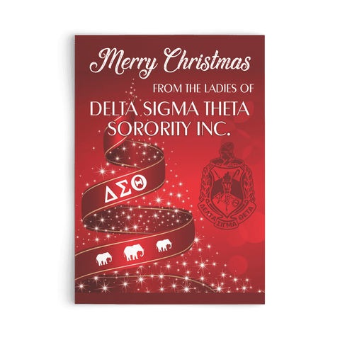 Delta Sigma Theta Christmas Card - Unique Greek Store