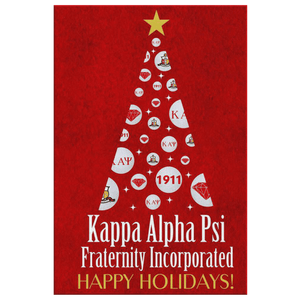 Kappa Alpha Psi Christmas Wall Canvas - Unique Greek Store