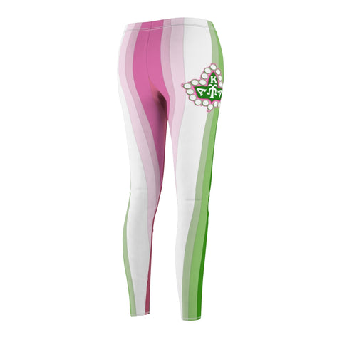 Image of Alpha Kappa Alpha Ivy Leaf Stripe Leggings