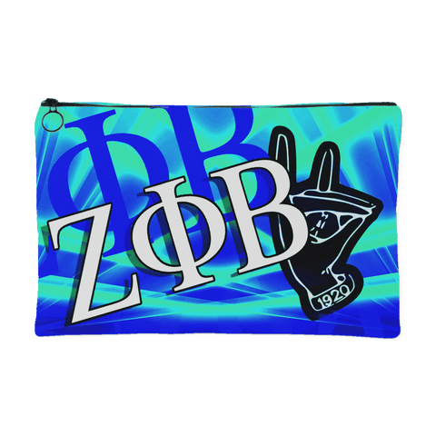 Zeta Phi Beta Accessory Pouch - Unique Greek Store